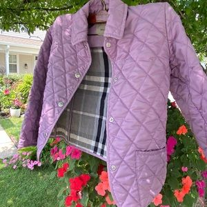 Burberry lavender, quilted girl's jacket